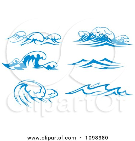Free Graphic Vector on Surf Waves 3   Royalty Free Vector Illustration By Seamartini Graphics
