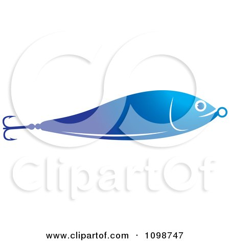 Clipart Blue Bait Fish Fishing Lure - Royalty Free Vector Illustration by Lal Perera