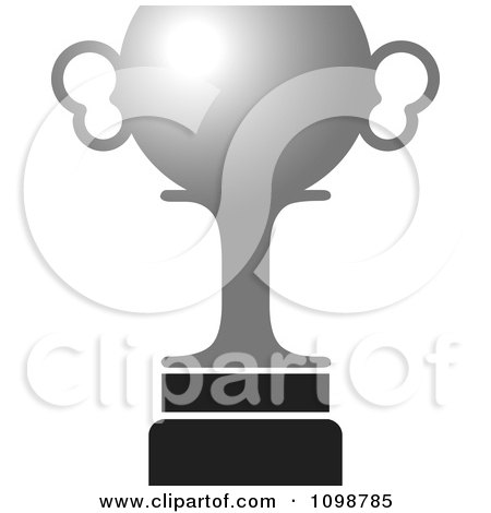 Clipart Silver Trophy Cup - Royalty Free Vector Illustration by Lal Perera