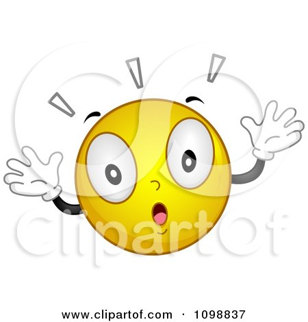 Clipart Yellow Shocked Smiley Emoticon - Royalty Free Vector Illustration by BNP Design Studio