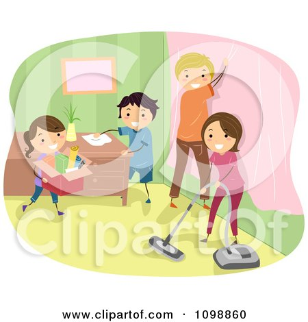Clipart Smiling Woman Holding A Spray Bottle And Spring