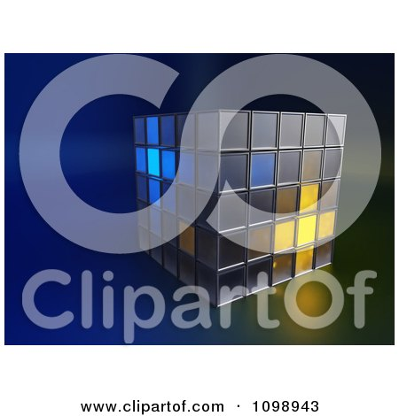 Clipart 3d Stacked Boxes With Some Glowing - Royalty Free CGI Illustration by Mopic