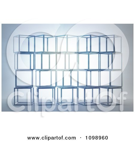 Clipart 3d Stacked Crates - Royalty Free CGI Illustration by Mopic