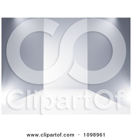 Clipart 3d Empty Stage Catwalk Background - Royalty Free CGI Illustration by Mopic