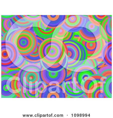 Clipart Seamless Background Of Vibrant Circles - Royalty Free Illustration by chrisroll