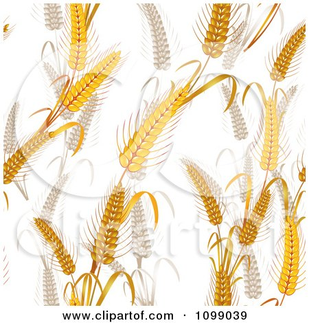 Clipart Seamless Whole Grain Wheat Background Pattern - Royalty Free Vector Illustration by merlinul