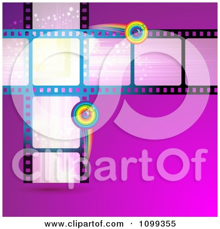 Clipart Film Frames With Rainbow Circles - Royalty Free Vector Illustration by merlinul