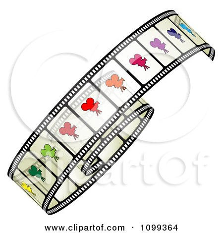 Clipart Film Roll With Colorful Camera Frames - Royalty Free Vector Illustration by merlinul