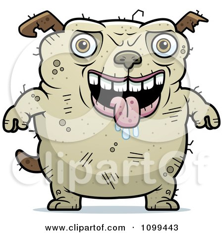 Clipart Drooling Ugly Dog - Royalty Free Vector Illustration by Cory Thoman