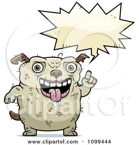 Clipart Talking Ugly Dog - Royalty Free Vector Illustration by Cory Thoman