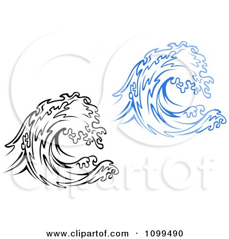 Logo Black And White Waves Black And White And Blue Waves