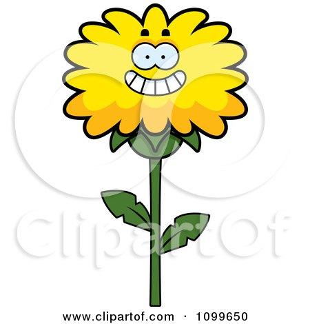 Happy Smiling Dandelion Flower Character Posters, Art Prints