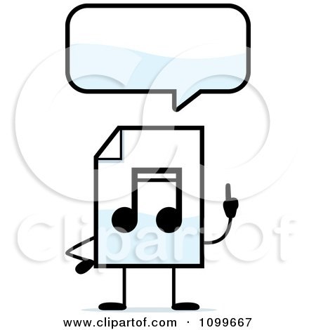 Clipart MP3 Music Document Mascot With Hands On Hips - Royalty ...