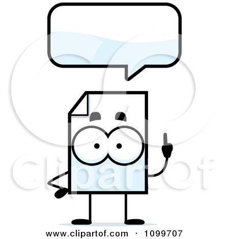 Clipart Document Mascot Talking - Royalty Free Vector Illustration by Cory Thoman