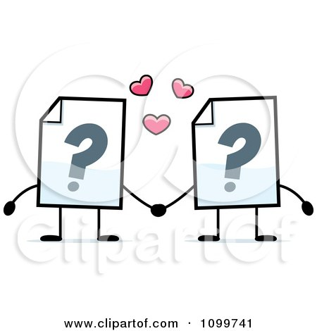 Clipart Help Document Mascots Holding Hands - Royalty Free Vector Illustration by Cory Thoman