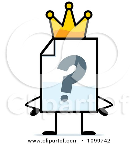 Clipart Help Document Mascot King - Royalty Free Vector Illustration by Cory Thoman