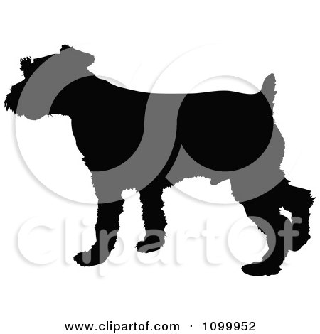 Clipart Black Silhouette Of A Schnauzer Dog Profile - Royalty Free Vector Illustration by Maria Bell