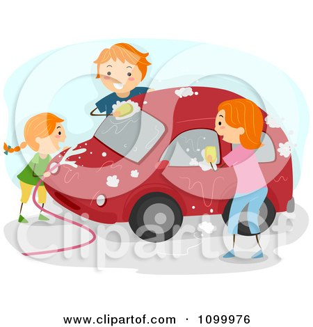 Royalty-Free (RF) Car Wash Clipart, Illustrations, Vector Graphics #1