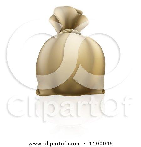 Clipart 3d Bank Money Sack - Royalty Free Vector Illustration by AtStockIllustration