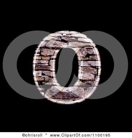 clipart 3d lowercase letter o made of stone wall texture royalty free cgi illustration by. Black Bedroom Furniture Sets. Home Design Ideas
