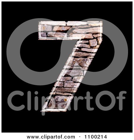 Clipart 3d Number 7 Made Of Stone Wall Texture - Royalty Free CGI Illustration by chrisroll