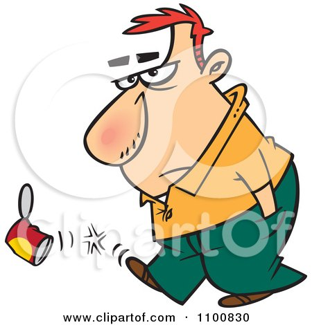 Ako sa dnes máš? 6 - Stránka 83 1100830-Cartoon-Surly-Man-Kicking-A-Can-Poster-Art-Print