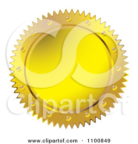 Clipart Gold Wax Seal Design Element - Royalty Free Vector Illustration by michaeltravers