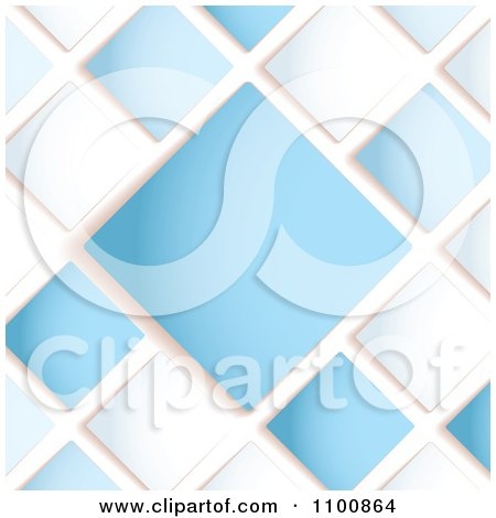 Clipart Blue And White Diamond Background With Copy Space - Royalty Free Vector Illustration by michaeltravers