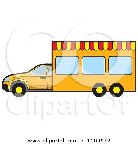 Clipart Portable Vendor Van - Royalty Free Vector Illustration by Lal Perera