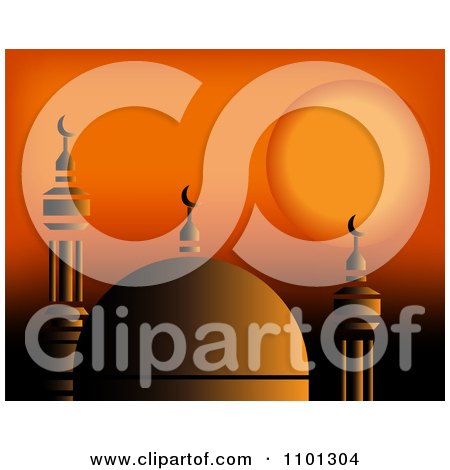 Clipart Happy Eid Banner Strings - Royalty Free Vector Illustration by ... Orange Moon Clipart