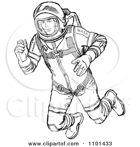astronaut floating in space clipart - photo #33