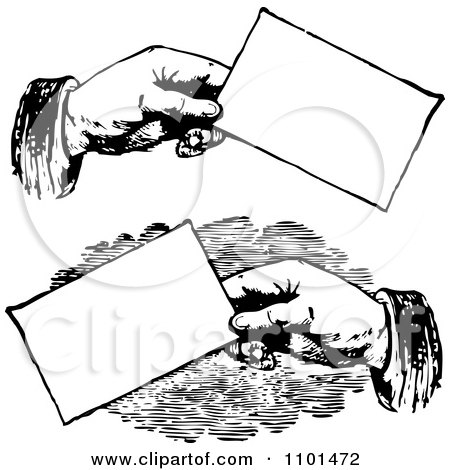 Hands Business Cards Clipart