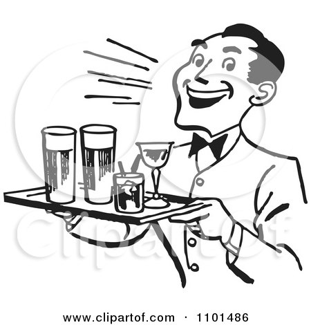 Royalty-Free (RF) Waiter Clipart, Illustrations, Vector ...