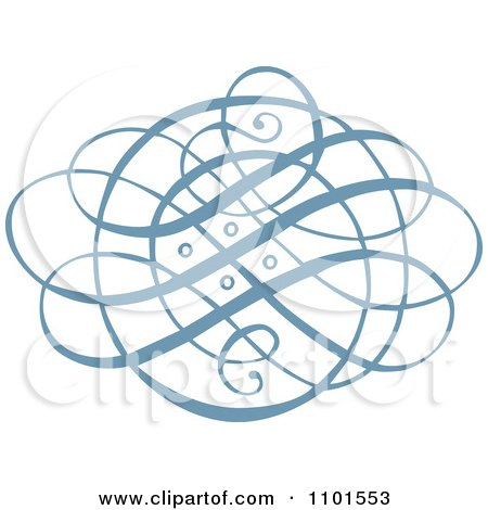 Clipart Blue Swirl Design Element 2 - Royalty Free Vector Illustration by BestVector