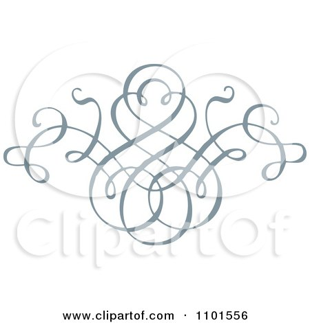 Clipart Gray Swirl Design Element 4 - Royalty Free Vector Illustration by BestVector