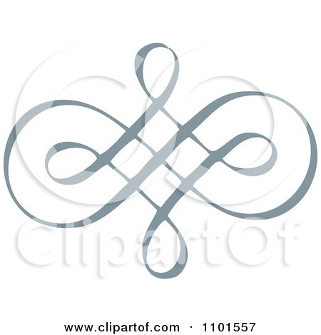 Clipart Gray Swirl Design Element 5 - Royalty Free Vector Illustration by BestVector