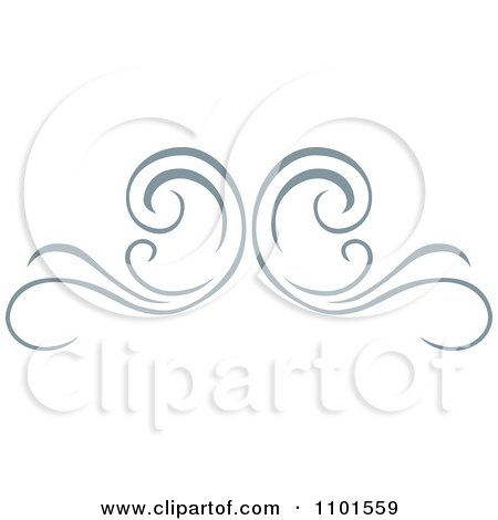 Clipart Gray Swirl Design Element 1 - Royalty Free Vector Illustration by BestVector