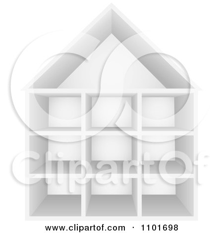 House Clipart Black And White Free Clipart 3d White Cubby House