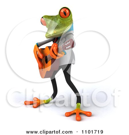 Clipart 3d Doctor Springer Frog Guitarists 1 - Royalty Free CGI Illustration by Julos
