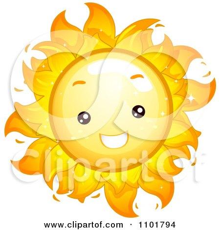 Royalty-Free (RF) Cute Sun Clipart, Illustrations, Vector Graphics #1