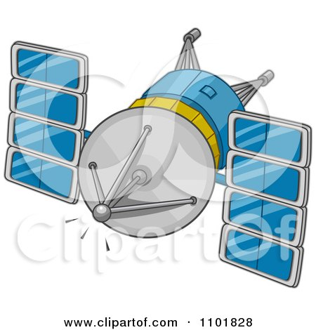 Clipart Modern Space Communications - Royalty Free Vector Illustration by BNP Design Studio