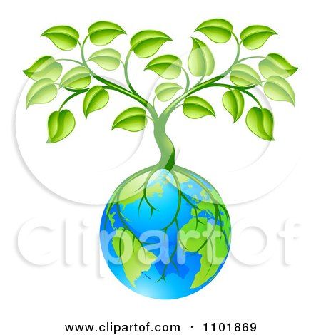 Tree With Roots Growing Around Earth Posters, Art Prints