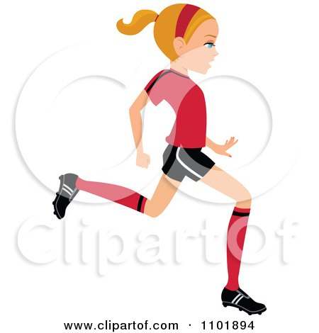 how to draw a girl running