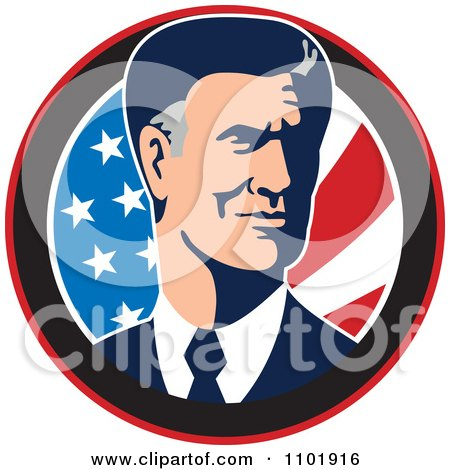 Clipart Mitt Romney Republican American Presidential Candidate 2012 - Royalty Free Vector Illustration by patrimonio