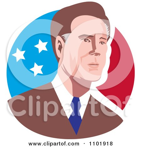 Clipart Mitt Romney 2012 Republican American Presidential Candidate - Royalty Free Vector Illustration by patrimonio
