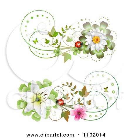 RoyaltyFree RF Floral Divider