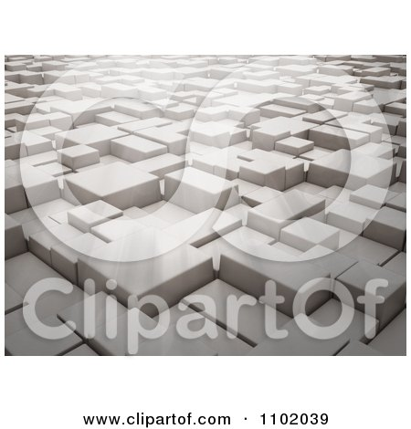 Clipart 3d Cubes And Light - Royalty Free CGI Illustration by Mopic