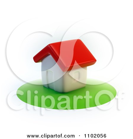 Clipart 3d Home On A Circle Of Grass - Royalty Free CGI Illustration by Mopic