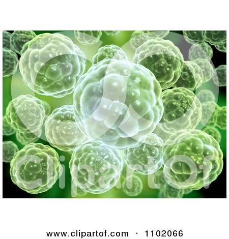 Clipart 3d Green Precambrian Early Multicellular Life - Royalty Free CGI Illustration by Mopic