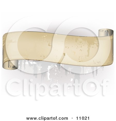 Blank Scroll Banner With Grunge Effect Clipart Illustration by Leo Blanchette